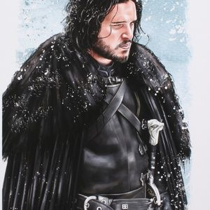 """Other - """"Game of Thrones"""" Jon Snow Signed Lithograph (COA)"""